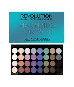 Makeup Revolution Paleta cieni 32 Mermaids Forever (MUR-32MF)