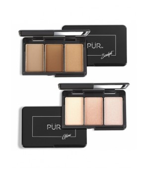 PUR Zestaw mini paletek Quick Pro Holiday Portables Sculpt & Glow (PUR-QPHC)