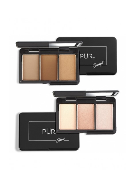 PUR Zestaw mini paletek Quick Pro Holiday Portables Sculpt & Glow