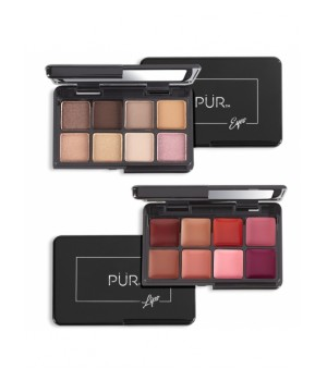 PUR Zestaw mini paletek Quick Pro Holiday Portables Day Dream On-The-Go Lipstick & Eyeshadow Pal - PUR-QPLE