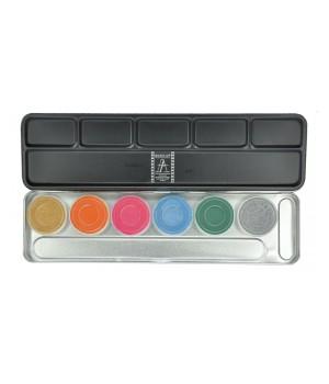 Make Up Atelier Paris Paleta farb wodnych 6kol (MAP-F-PAL6)
