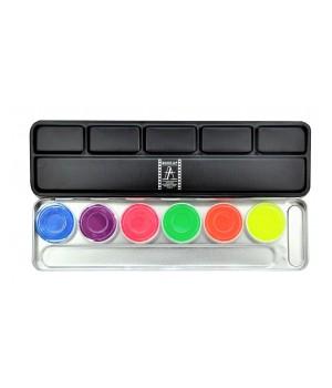 Make Up Atelier Paris Paleta farbek neonowych wodnych 6kol (MAP-FF-PAL6)