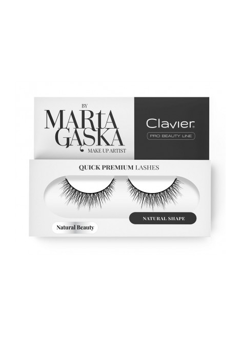 Clavier Rzęsy na Pasku Quick Premium Lashes by Marta Gąska – model NATURAL BEAUTY (827)