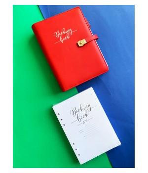 BOOKING BOOK Kalendarz Czerwony Zestaw (VSL-BBCZZ)